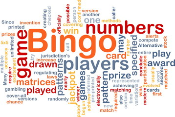 Bingo game background concept