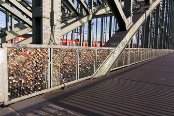 Liebesschlösser, Köln, Hohenzollernbrücke