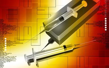 Syringe and syringe box
