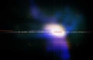 Binary Code Background - Blue