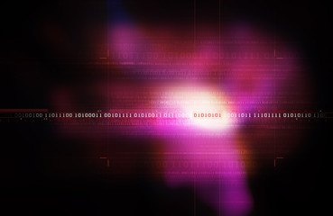 Binary Code Background - Purple