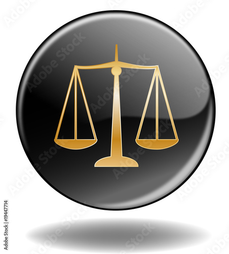 """Scales of Justice"" Button - Bouton ""Justice"" (symbole)"