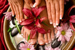 canvas print picture Manicure and pedicure