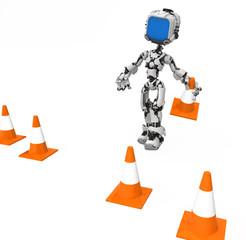 Blue Screen Robot, Traffic Cones