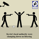 Kevins local authority were clamping down on litter poster