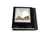 eBook reader with book on screen poster