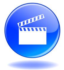 Bouton CINEMA (Cinéma Rond Clap Sorties Programme Films Web)