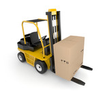 Forklift with cargo