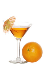 Orange Martini With An Umbrella
