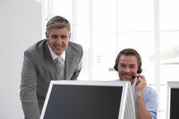 Two men at work