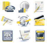 Vector business and office icons. Part 3
