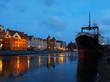 Gdansk of Riverside at dawn