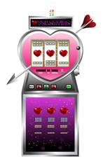 Valentine drawing of slot machine