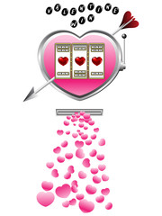 Valentine slot machine