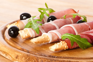Bread Sticks With Parma Ham
