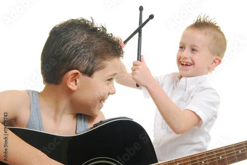 Children playing music