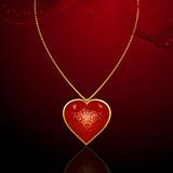 Valentine pendant background poster