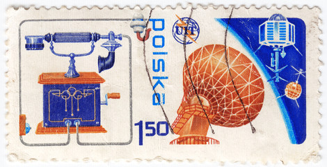 stamp printed in Poland - anniversary of connection