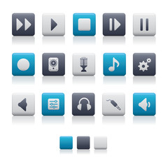 Matte Square Icons - Audio Soft