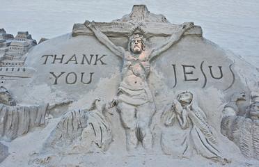 Jesus Sand Sculpture