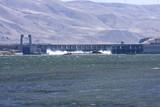 Railroad bridge over the Columbia River. poster