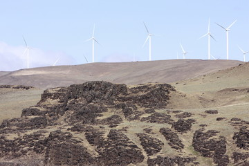 windfarm on top of hill