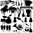 Lot of vector music instruments - 19490301