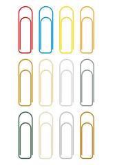 Büroklammer in diversen Farben