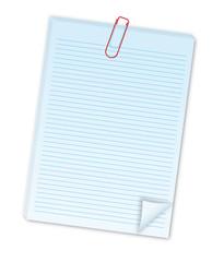 Notizblatt mit Büroklammer