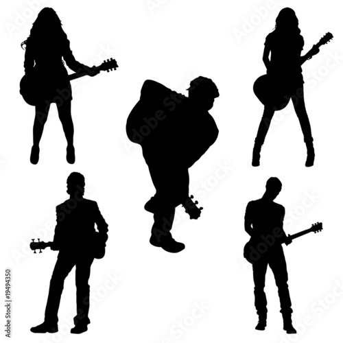 Male and female guitarists