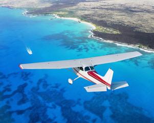 small plane cruising
