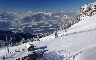 Blick nach Kitzbühel