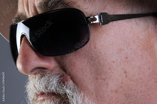 senior with sunglass