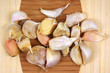 Group garlic cloves