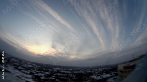 Cloudscape timelapse fish eye view