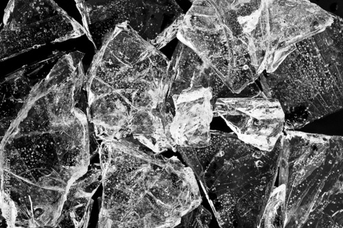 Frozen ice chunks