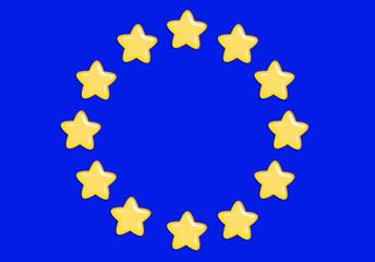 bandeira europeia em gomas