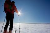 Fototapeta backcountry skier (ski touring)