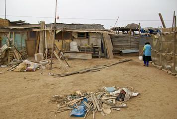 Bäuerin in Slums