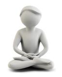 Fototapety 3d people - meditation