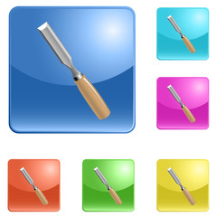 vector icons of chisel