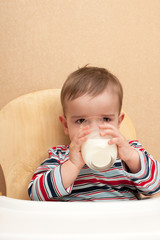 Drinking milk toddler