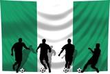Soccer- Fussball WM Team Nigeria poster