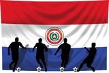 Soccer- Fussball WM Team Paraguay poster