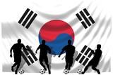 Soccer- Fussball WM Team Südkorea poster