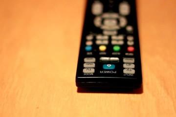 Tv remote, pan shot