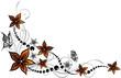 Blumen, Blüten, Ranke, floral, mit Schmetterlingen