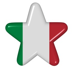 star in colors of Italy
