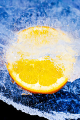 Orange on ice