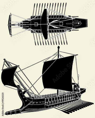 The Ancient Greek Ship Vector 01